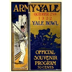 Yale Bulldogs vs. Army Black Knights 36 x 48 Canvas Historic Football