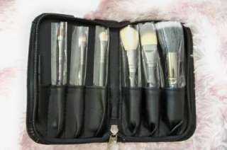 pcs Hello Kitty Makeup Soft Brushes Faux Leather Set Kit Case