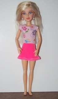 Doll Clothes handmade Barbie LIV Pink Skirt Set