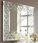 VENETIAN Rectangle Frameless Basketweave WALL MIRROR Weave Beveled