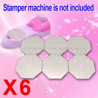 DIY NAIL ART STAMPING PRINTING MACHINE TEMPLATE SET KIT
