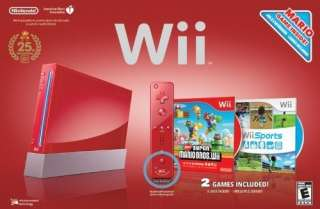 NEW NINTENDO WII SPORT   FIT CONSOLE SYSTEM BUNDLE RED 0045496880354
