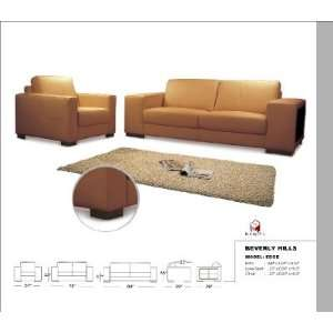 Edge full leather Sofa, Loveseat & Chair Edge Leather Sofa