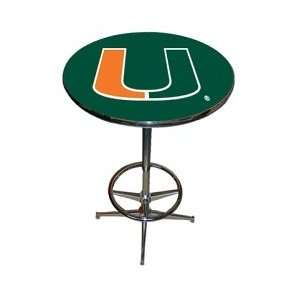Miami Hurricanes Chrome Game Room Table