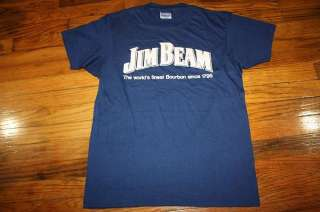 vtg 80s JIM BEAM whiskey liquor shirt *soft thin