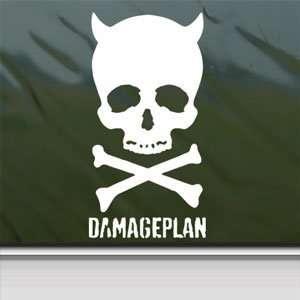 Damageplan White Sticker Metal Rock Band Laptop Vinyl