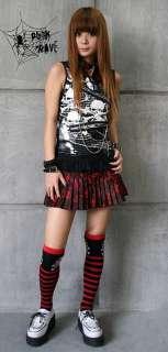 Lolita Kera VISUAL KEI PUNK GOTHIC EMO NANA pants skirt leg warmers S