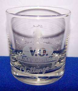 Seagrams V. O. Golden Quarterback Challenge II Glass
