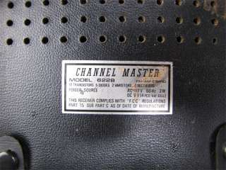 Vintage Channel Master AM/FM Transistor Radio #6228