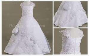 Flower Girl Dress Child size 2 14 Wedding Party Satin Organza