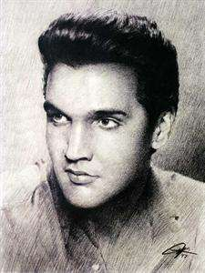 Elvis Presley Sketch Portrait Charcoal Pencil Drawing