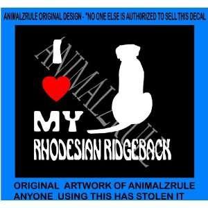 RHODESIAN RIDGEBACK DOG VINYL DECAL