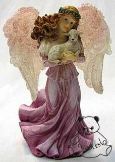 Grace Charming Guardian Angel Of Faith Boyds Bear Resin Figurine Lamb