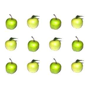 Pack Artificial Granny Smith Mini Apple Apples   Plastic Green Fruit