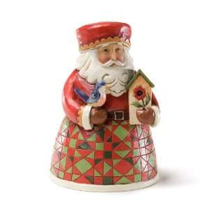 Jim Shore Heartwood Creek from Enesco Santa with Bird Christmas