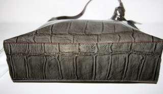 Kate Spade TRENTON Madrid Embossed Croc Leather Graphite PURSE + NEDA