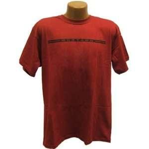 Ford Mustang Stripe 3 Dark Red Mens Tee Shirt Lg Afm005