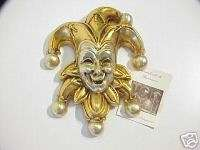 VENETIAN CERAMIC MASKCOURT JESTER.MADE IN ITALY.