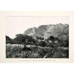 1899 Print Utuado Lares Trail Horseback Riding Coral Rock Formations