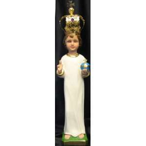 16 Italian Plaster Infant of Prague Statue (RA 1716 CR