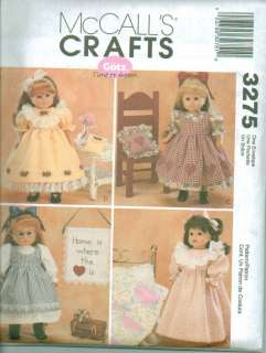 McCalls American Girl 18 Doll Clothes Sewing Pattern