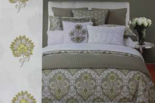 HILLCREST SANTORINI FLORAL QUEEN SHEET SET LIME GREEN/WHITE   4PC