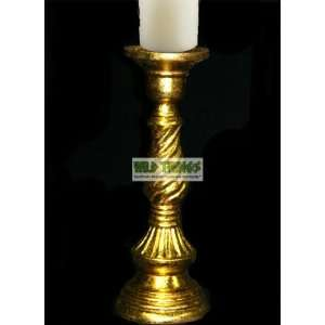 Candle Holder Pillar   Gold   16 Tall Home & Kitchen