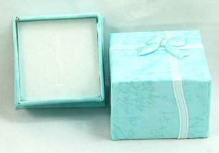 BLUE Paper Gift Jewelry Ring / Earring Case Box 24pc