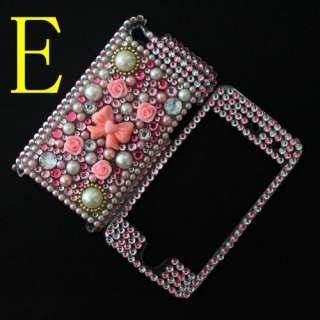 3D Diamond Crystal Bling Hard Back & Front Cover Case Skin for Ipod
