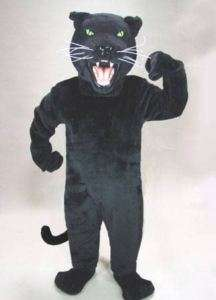 BLACK PANTHER cat MASCOT HEAD Costume Suit Halloween