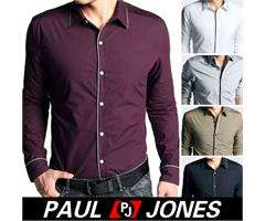 NWT Men's Casual Slim Stylish Dress Shirts Fit blouse US XS/S/M/L/XL