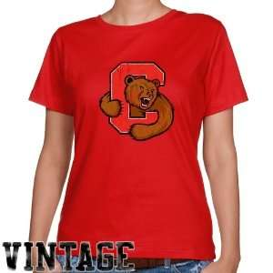 Cornell Big Red Ladies Red Distressed Logo Vintage Classic