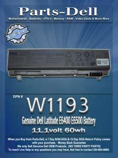 Genuine Dell Latitude E6400 E6500 Battery 11.1volt 60wh W1193