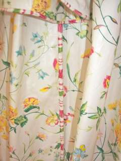 SUPERB AMAZING PAIR FRENCH COUNTRY CUSTOM CHINTZ DRAPES CURTAINS