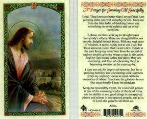 Prayer for Growing Old Gracefully Holy Card Catholic Prayer Cards