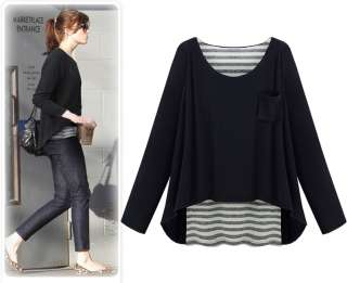 New Fashion Womens Ladies Long Sleeve Top & Blouses Twinset Casual T