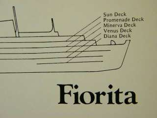 1985 86 Deck Plan Chandris Cruise Lines   tss FIORITA