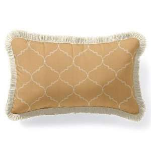 Outdoor Outdoor Lumbar Pillow in Sunbrella Arch Tan with Fringe