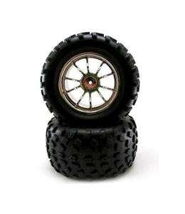 Chrome Wheel & Tire Set 2.8 Off Road 10 Spoke Redcat Volcano Redcat