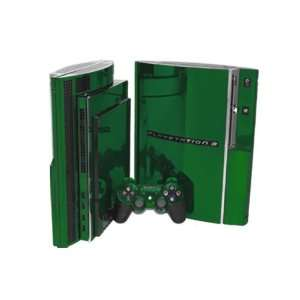 PlayStation 3 Skin (PS3)   NEW   GREEN CHROME MIRROR system skins