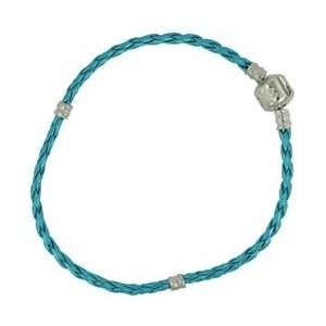 Jesse James Beads Uptown Collection Leather Bracelet 1/Pkg Turquoise 8