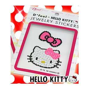 Sanrio Hello Kitty Jewelry Gem Sticker   Pink Ribbon