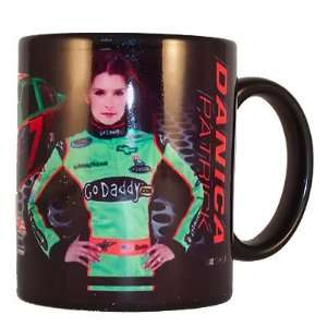 Danica Patrick NASCAR Go Daddy Black Coffee Mug Sports