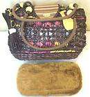 Small Dog Cat Basket Tote Hand Bag Pet Carrier   Brown