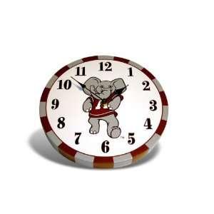 Alabama Crimson Tide Mascot Wooden Clock Sports
