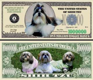 FULL COLOR SHIH TZU DOG BILL (100/$13.99)