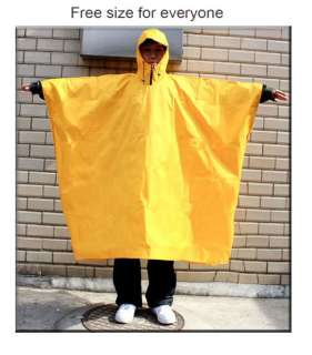 Multi Purpose Poncho Camping Fishing Rain coat Zip up