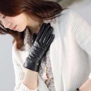 NEW WARMEN Womens GENUINE LAMBSKIN Winter Warm leather gloves