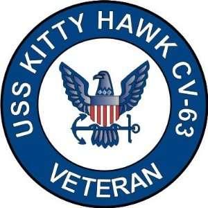 US Navy USS Kitty Hawk CV 63 Ship Veteran Decal Sticker 3