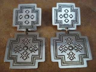 Beautiful Sterling Silver Santa Fe Cross Earrings